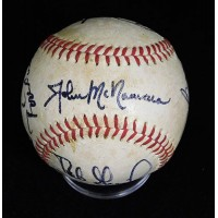 California Angels 1983 Carew/Lynn/Grich +4 Signed OAL Baseball JSA Authenticated
