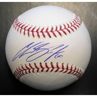 Chasen Bradford Signed Major League Baseball In Blue Pen JSA Authenticated