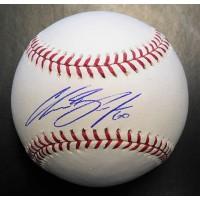 Chasen Bradford Signed Major League Baseball In Blue Pen JSA Authenticated