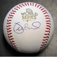 Joe Buck Signed 2017 World Series MLB Baseball In Blue Pen PSA/DNA Authenticated