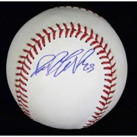 Dane De La Rosa Signed Major League Baseball In Blue Pen MLB Authenticated