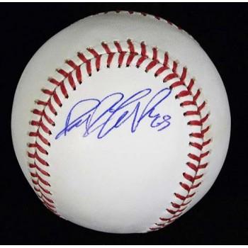 Dane De La Rosa Signed Major League Baseball In Blue Pen MLB Authenticated