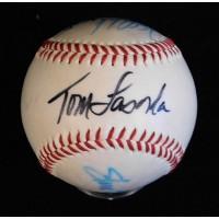 Los Angeles Dodgers Lasorda Sax Johnstone Signed Spalding Baseball JSA Authentic
