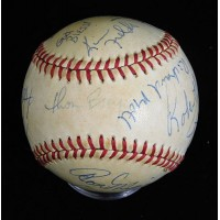 Famous Personalities Signed Official AL Baseball by 10 JSA Authenticated