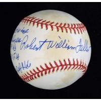 Robert William Bob Feller Signed LE Stat American League Baseball JSA Authentic