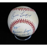 Carney Lansford Signed Official American League Baseball JSA Authenticated