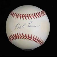 Bob Lemon Signed Official American League Baseball JSA Authenticated
