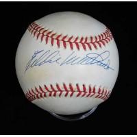 Eddie Mathews Signed Official National League Baseball JSA Authenticated