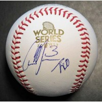 Cameron Maybin Signed 2017 World Series MLB Baseball PSA/DNA Authenticated