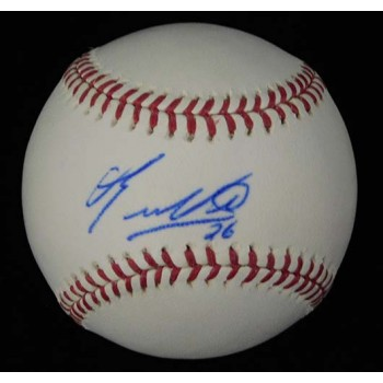 Eduardo Nunez Signed Major League Baseball In Blue Pen JSA Authenticated