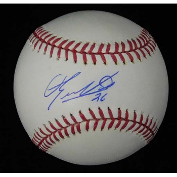 Eduardo Nunez Signed Major League Baseball In Blue Pen JSA Authenticated