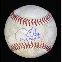 Hector Santiago LAA Signed Game Used Major League Baseball MLB JSA Authenticated