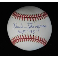Chuck Thompson Broadcaster Signed American League Baseball JSA Authenticated