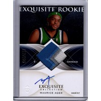 Maurice Ager 2006-07 Upper Deck Exquisite Rookie Collection Signed Card /225 67