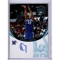 Rodney Carney Memphis Tigers 2006 Press Pass Blue Autographed Card 37/50