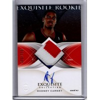Rodney Carney 2006-07 Upper Deck Exquisite Rookie Signed Patch Card /225 #56