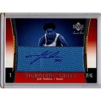 Josh Childress 2004-05 Upper Deck Sweet Shot Blue Autographed Card #SSB-CH