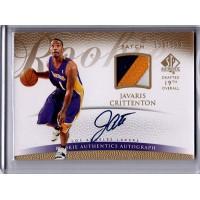 Javaris Crittenton 2007-08 Upper Deck SP Authentic Signed Patch Card /599 #128