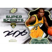 Kevin Durant Supersonics 2007-08 SPX Super Scripts RC Rookie Autograph Card