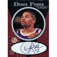 Derek Fisher Los Angeles Lakers Signed 1997-98 Score Board Card