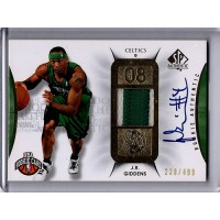 J.R. Giddens 2008-09 Upper Deck SP Authentic Rookie Signed Patch Card /499 #114