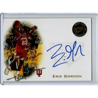 Eric Gordon Hoosiers 2008 Press Pass Gold Autographed Card 54/75 #PPS-EG