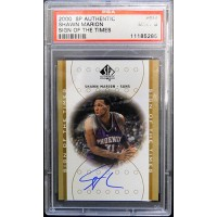 Shawn Marion 2000-01 SP Authentic Sign of the Times Autographed #SM Card PSA 9