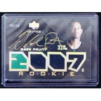Gabe Pruitt Boston Celtics 2007-08 Upper Deck Black Gold Auto Patch Card /10 #86