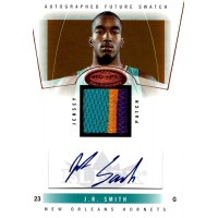 JR Smith 2004-05 Fleer NBA Hoops Hot Prospects Autograph Patch Card #84 106/350
