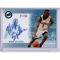Kirk Snyder Nevada Wolf Pack 2004 Press Pass Autographed Card 27/50