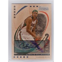 Charlie Villanueva 2006-07 Topps Trademark Moves Autographed Card 18/19 #12