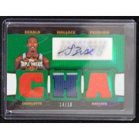 Gerald Wallace Autographed 2007 Topps Triple Threads 14/18 Card TTRA-53