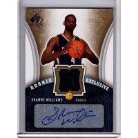 Shawne Williams 2006-07 Upper Deck SP Authentic Exclusive Signed Card /60 #RE-WI