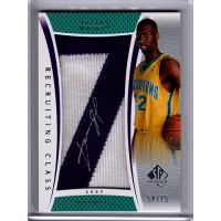 Julian Wright 2007-08 Upper Deck SP Authentic Signed Patch Card /75 #RC-JW