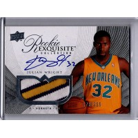 Julian Wright 2007-08 Upper Deck Exquisite Autographed Patch Card /225 #63