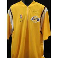 Mark Madesn Los Angeles Lakers Signed Warm Up Jersey Jacket JSA Authenticated