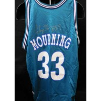 Alonzo Mourning Charlotte Bobcats Signed Authentic Jersey JSA Authenticated