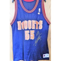 Dikembe Mutombo Denver Nuggets Signed Authentic Jersey JSA Authenticated