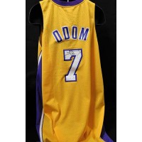 Lamar Odom Los Angeles Lakers Signed Replica Jersey JSA Authenticated