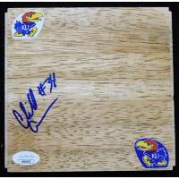 Cliff Alexander Kansas Jayhawks Signed 6x6 Floorboard JSA Authenticated