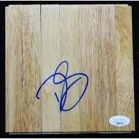 D.J. Augustin Houston Rockets Signed 6x6 Floorboard JSA Authenticated