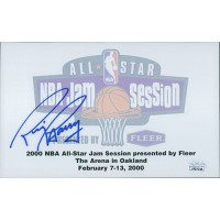 Rick Barry Signed 5x8 2000 NBA All-Star Autograph Card JSA Authenticated