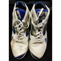 P.J. Brown Signed Game Used LA Tech Shoes Size 16 JSA Authenticated