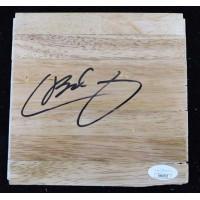 Chase Budinger Houston Rockets Signed 6x6 Floorboard JSA Authenticated