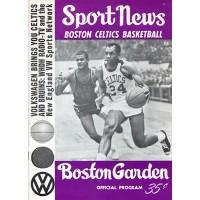 Boston Celtics 1965-66 Team Signed Sport News Program JSA Authenticated