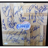 Los Angeles Clippers 1995-96 Team Signed 12x12 Floorboard JSA Authenticated
