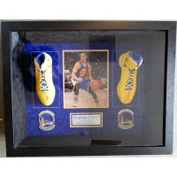 Steph Curry Golden State Warriors Signed Framed Pair of Shoes JSA Authenticated