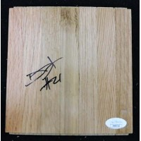 Damyean Dotson Cleveland Cavaliers Signed 6x6 Floorboard JSA Authenticated