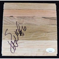 Cristiano Felicio Chicago Bulls Signed 6x6 Floorboard JSA Authenticated