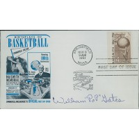 William Pop Gates Signed Birthplace of Basketball FDI Cachet JSA Authenticated